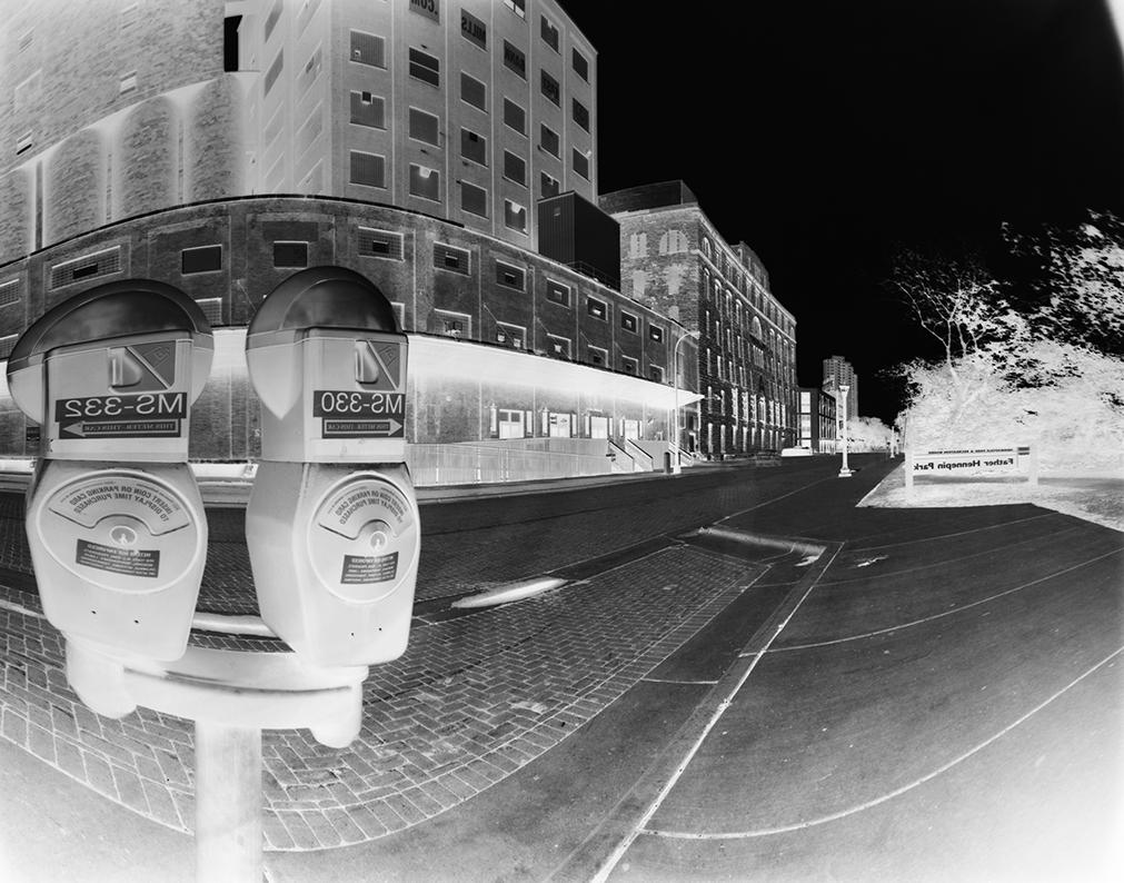 Metered: Parking meters in old St. Anthony.