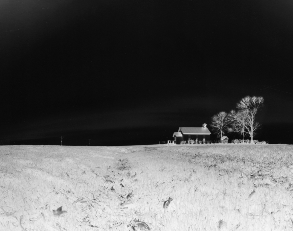 Flora - Place on the Prairie: Photograph of the Flora Township hall from a distance.