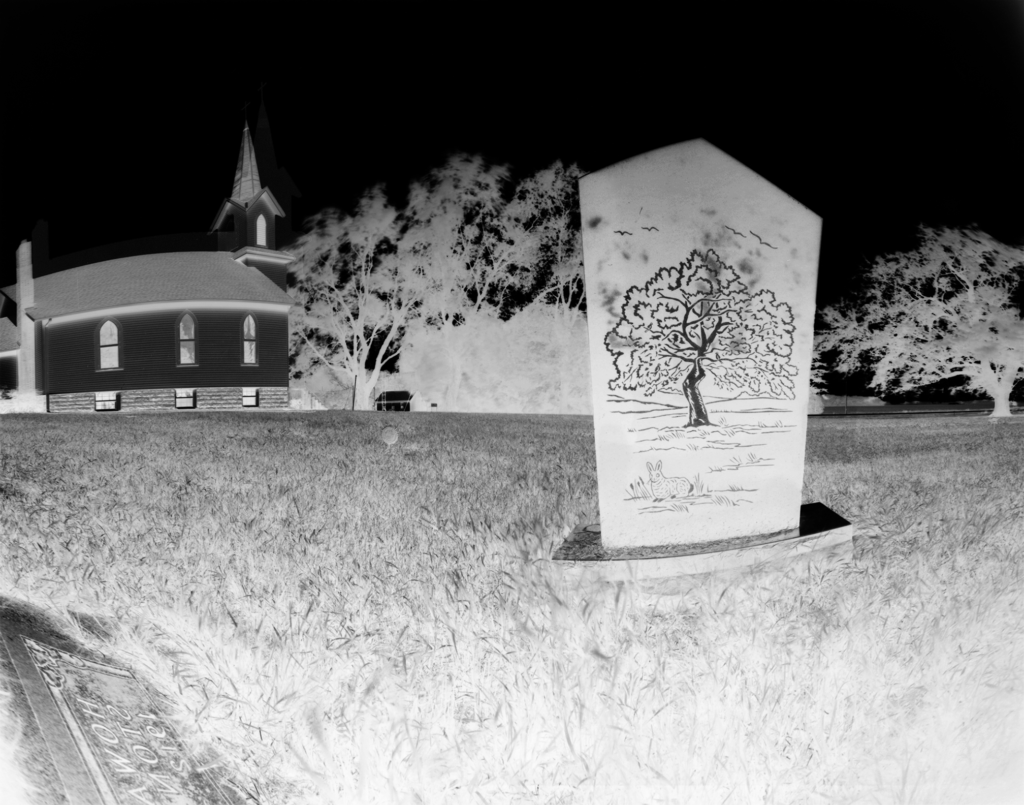 Palmyra township hall from the cemetery across the street.