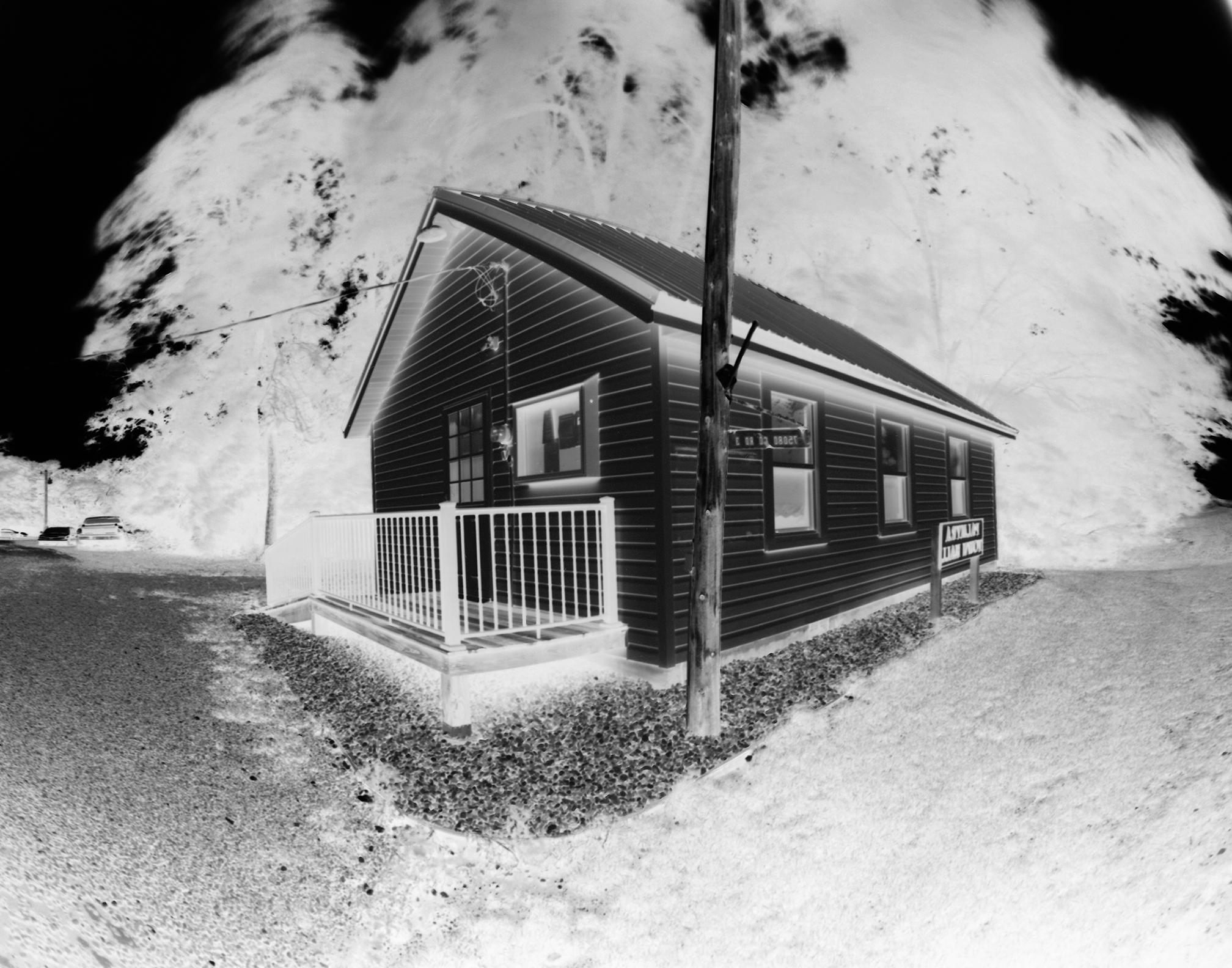 Corner view of the Palmyra township hall.